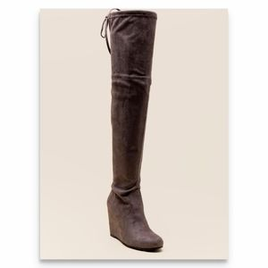 Francesca's Grace Wedge Over the Knee Boot, 8.5